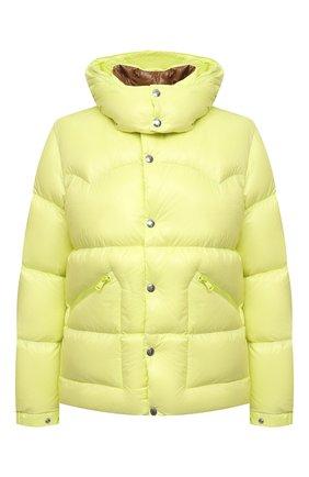 Мужская пуховая куртка coutard MONCLER желтого цвета, арт. G2-091-1A000-41-68950 | Фото 1 (Материал внешний: Синтетический материал; Материал подклада: Синтетический материал; Материал утеплителя: Пух и перо; Кросс-КТ: Куртка; Длина (верхняя одежда): Короткие; Стили: Спорт-шик; Мужское Кросс-КТ: пуховик-короткий; Рукава: Длинные)