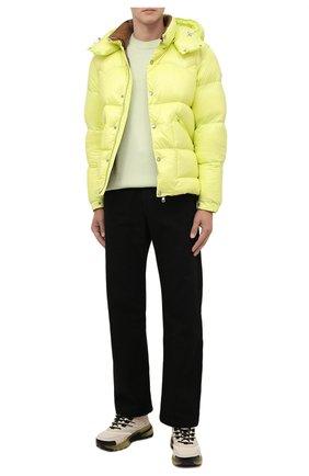 Мужская пуховая куртка coutard MONCLER желтого цвета, арт. G2-091-1A000-41-68950 | Фото 2 (Материал внешний: Синтетический материал; Материал подклада: Синтетический материал; Материал утеплителя: Пух и перо; Кросс-КТ: Куртка; Длина (верхняя одежда): Короткие; Стили: Спорт-шик; Мужское Кросс-КТ: пуховик-короткий; Рукава: Длинные)