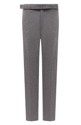 Мужские брюки из кашемира и шерсти ZEGNA COUTURE серого цвета, арт. 287146/630SNP | Фото 1 (Длина (брюки, джинсы): Стандартные; Материал внешний: Шерсть, Кашемир; Случай: Повседневный; Стили: Кэжуэл)
