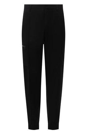 Мужские шерстяные джоггеры Z ZEGNA черного цвета, арт. 2ZF283/73V2C2 | Фото 1 (Длина (брюки, джинсы): Стандартные; Материал внешний: Шерсть; Силуэт М (брюки): Джоггеры; Стили: Кэжуэл)