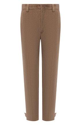 Мужские брюки из хлопка и кашемира ERMENEGILDO ZEGNA бежевого цвета, арт. UYI17/TP23 | Фото 1 (Длина (брюки, джинсы): Стандартные; Материал внешний: Хлопок; Случай: Повседневный; Стили: Кэжуэл)