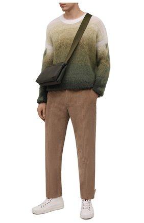 Мужские брюки из хлопка и кашемира ERMENEGILDO ZEGNA бежевого цвета, арт. UYI17/TP23 | Фото 2 (Длина (брюки, джинсы): Стандартные; Материал внешний: Хлопок; Случай: Повседневный; Стили: Кэжуэл)
