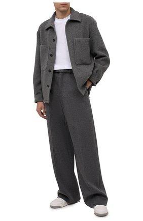 Мужская шерстяная куртка Z ZEGNA серого цвета, арт. 289731/1DXCG0   Фото 2 (Длина (верхняя одежда): Короткие; Материал внешний: Шерсть; Рукава: Длинные; Кросс-КТ: Куртка; Мужское Кросс-КТ: шерсть и кашемир)