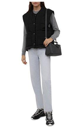 Женские кожаные кроссовки shegoes VALENTINO черного цвета, арт. WW2S0AH6/XZX | Фото 2 (Материал утеплителя: Натуральный мех; Кросс-КТ: хайтопы; Подошва: Платформа)