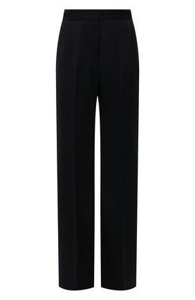 Женские шерстяные брюки DRIES VAN NOTEN черного цвета, арт. 212-010915-3231 | Фото 1 (Материал подклада: Вискоза; Материал внешний: Шерсть; Длина (брюки, джинсы): Удлиненные; Женское Кросс-КТ: Брюки-одежда; Силуэт Ж (брюки и джинсы): Расклешенные; Стили: Кэжуэл)
