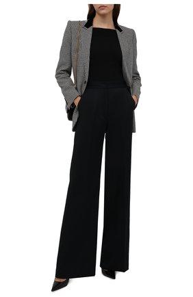 Женские шерстяные брюки DRIES VAN NOTEN черного цвета, арт. 212-010915-3231 | Фото 2 (Материал подклада: Вискоза; Материал внешний: Шерсть; Длина (брюки, джинсы): Удлиненные; Женское Кросс-КТ: Брюки-одежда; Силуэт Ж (брюки и джинсы): Расклешенные; Стили: Кэжуэл)