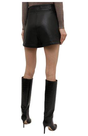 Женские кожаные шорты SAINT LAURENT черного цвета, арт. 660579/YCFC2 | Фото 4 (Женское Кросс-КТ: Шорты-одежда; Длина Ж (юбки, платья, шорты): Мини; Стили: Гранж; Материал подклада: Купро)