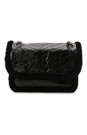 Женская сумка niki medium SAINT LAURENT черного цвета, арт. 633187/0EN9D | Фото 1 (Материал: Натуральная кожа; Размер: medium; Сумки-технические: Сумки через плечо)
