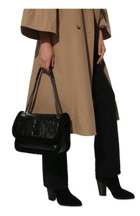 Женская сумка niki medium SAINT LAURENT черного цвета, арт. 633187/0EN9D | Фото 2 (Материал: Натуральная кожа; Размер: medium; Сумки-технические: Сумки через плечо)