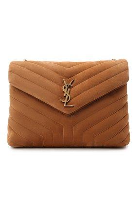 Женская сумка monogram loulou medium SAINT LAURENT светло-коричневого цвета, арт. 574946/1U8C7 | Фото 1 (Материал: Натуральная кожа; Размер: medium; Сумки-технические: Сумки через плечо)