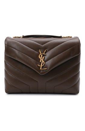 Женская сумка monogram loulou small SAINT LAURENT коричневого цвета, арт. 494699/DV727 | Фото 1 (Материал: Натуральная кожа; Сумки-технические: Сумки через плечо; Размер: small; Ремень/цепочка: На ремешке)