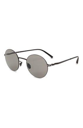 Женские солнцезащитные очки MYKITA черного цвета, арт. KAY0/BLACK/GREY S0LID 002 | Фото 1 (Тип очков: С/з; Материал: Металл; Оптика Гендер: оптика-унисекс; Очки форма: Круглые)