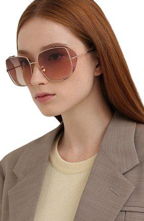 Женские солнцезащитные очки TOM FORD светло-розового цвета, арт. TF901 28F | Фото 2 (Тип очков: С/з; Оптика Гендер: оптика-женское; Очки форма: Квадратные)