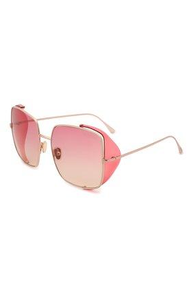 Женские солнцезащитные очки TOM FORD розового цвета, арт. TF901 28T | Фото 1 (Тип очков: С/з; Материал: Металл; Оптика Гендер: оптика-женское; Очки форма: Квадратные)