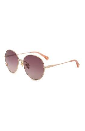 Детские солнцезащитные очки CHLOÉ розового цвета, арт. CC0006S 001   Фото 1 (Материал: Текстиль, Синтетический материал, Металл)