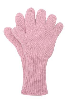 Детские кашемировые перчатки GIORGETTI CASHMERE розового цвета, арт. MB1699/4A | Фото 1 (Материал: Кашемир, Шерсть)