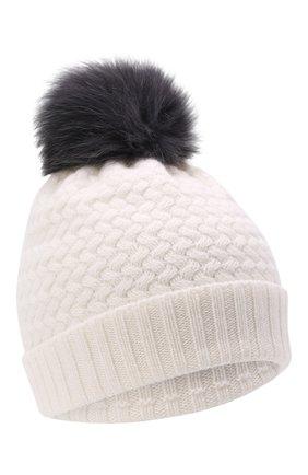 Детского кашемировая шапка GIORGETTI CASHMERE кремвого цвета, арт. MB1825/12A | Фото 1 (Материал: Шерсть, Кашемир)