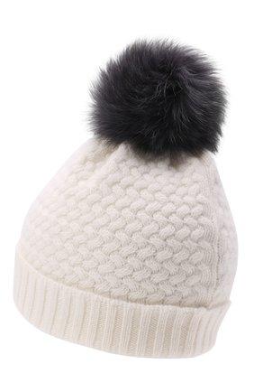 Детского кашемировая шапка GIORGETTI CASHMERE кремвого цвета, арт. MB1825/12A | Фото 2 (Материал: Шерсть, Кашемир)