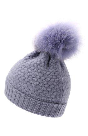 Детского кашемировая шапка GIORGETTI CASHMERE сиреневого цвета, арт. MB1825/8A | Фото 2 (Материал: Шерсть, Кашемир)