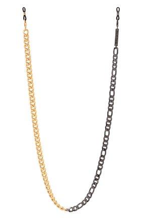 Женские цепочка для очков FRAME CHAIN золотого цвета, арт. MIX IT UP BLACK AND YELL0W G0LD | Фото 1 (Тип очков: Цепочка; Оптика Гендер: оптика-женское)