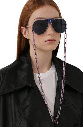 Женские цепочка для очков FRAME CHAIN фиолетового цвета, арт. R0N LILAC | Фото 2 (Тип очков: Цепочка; Оптика Гендер: оптика-женское)