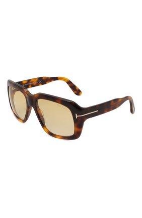Женские солнцезащитные очки TOM FORD коричневого цвета, арт. TF885 53F | Фото 1 (Тип очков: С/з; Материал: Пластик; Оптика Гендер: оптика-унисекс; Очки форма: Over-size)