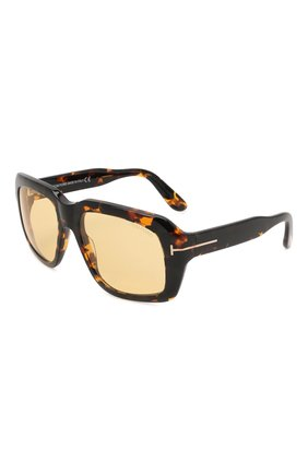 Женские солнцезащитные очки TOM FORD коричневого цвета, арт. TF885 55E | Фото 1 (Тип очков: С/з; Материал: Пластик; Оптика Гендер: оптика-унисекс; Очки форма: Over-size)