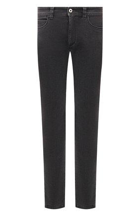 Мужские джинсы LORO PIANA серого цвета, арт. FAL9481 | Фото 1 (Материал внешний: Хлопок; Материал подклада: Хлопок; Кросс-КТ: Деним; Силуэт М (брюки): Прямые; Стили: Кэжуэл; Длина (брюки, джинсы): Стандартные)