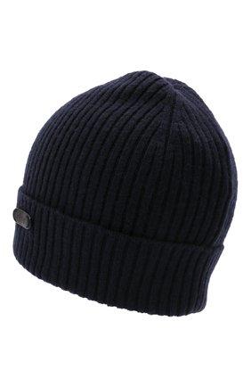 Мужская кашемировая шапка BRIONI темно-синего цвета, арт. 04M80L/01K23 | Фото 2 (Материал: Шерсть, Кашемир; Кросс-КТ: Трикотаж)