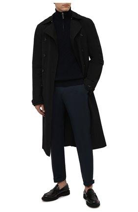 Мужской кашемировый свитер BRIONI темно-синего цвета, арт. UMS70L/01K62 | Фото 2 (Материал внешний: Шерсть, Кашемир; Рукава: Длинные; Длина (для топов): Стандартные; Мужское Кросс-КТ: Свитер-одежда; Принт: Без принта; Стили: Классический)