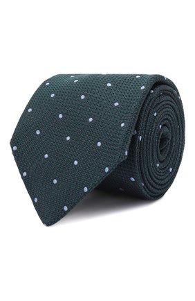 Мужской шелковый галстук LUIGI BORRELLI зеленого цвета, арт. CR361247/L0NG | Фото 1 (Материал: Шелк, Текстиль; Принт: С принтом)