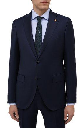 Мужской шелковый галстук LUIGI BORRELLI зеленого цвета, арт. CR361247/L0NG | Фото 2 (Материал: Шелк, Текстиль; Принт: С принтом)