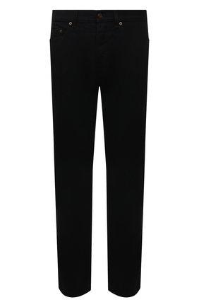 Мужские джинсы SAINT LAURENT черного цвета, арт. 670614/YF899 | Фото 1 (Материал внешний: Хлопок; Длина (брюки, джинсы): Стандартные; Кросс-КТ: Деним; Силуэт М (брюки): Прямые; Стили: Кэжуэл)