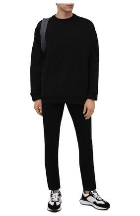 Мужские джинсы SAINT LAURENT черного цвета, арт. 670614/YF899 | Фото 2 (Материал внешний: Хлопок; Длина (брюки, джинсы): Стандартные; Кросс-КТ: Деним; Силуэт М (брюки): Прямые; Стили: Кэжуэл)