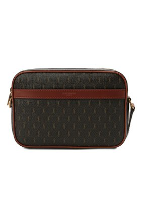 Мужская сумка le monogramme SAINT LAURENT коричневого цвета, арт. 669957/2UY2W   Фото 1 (Материал: Экокожа; Ремень/цепочка: На ремешке)