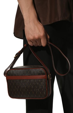 Мужская сумка le monogramme SAINT LAURENT коричневого цвета, арт. 669957/2UY2W   Фото 2 (Материал: Экокожа; Ремень/цепочка: На ремешке)