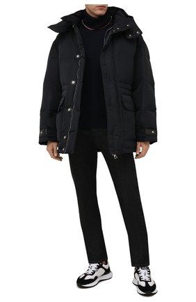Мужская утепленная куртка ALEXANDER MCQUEEN черного цвета, арт. 662284/QRR67 | Фото 2 (Материал подклада: Синтетический материал; Материал внешний: Синтетический материал; Рукава: Длинные; Длина (верхняя одежда): До середины бедра; Кросс-КТ: Куртка; Стили: Спорт-шик; Мужское Кросс-КТ: пуховик-короткий)