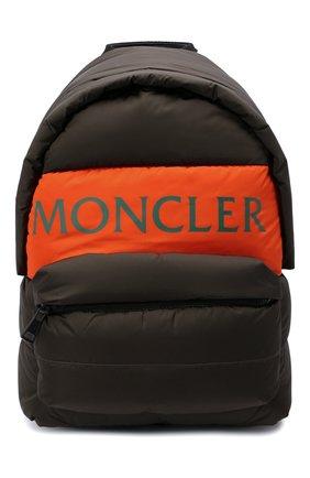 Мужской текстильный рюкзак MONCLER хаки цвета, арт. G2-09A-5A504-00-02SZU   Фото 1 (Материал: Текстиль)