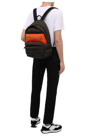 Мужской текстильный рюкзак MONCLER хаки цвета, арт. G2-09A-5A504-00-02SZU   Фото 2 (Материал: Текстиль)