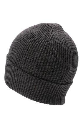 Мужская шерстяная шапка MONCLER темно-серого цвета, арт. G2-091-3B705-00-A9342 | Фото 2 (Материал: Шерсть; Кросс-КТ: Трикотаж)