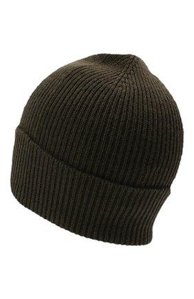 Мужская шерстяная шапка MONCLER хаки цвета, арт. G2-091-3B705-00-A9342   Фото 2 (Материал: Шерсть; Кросс-КТ: Трикотаж)