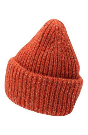 Мужская шапка из шерсти и кашемира MONCLER оранжевого цвета, арт. G2-091-3B000-49-M1209 | Фото 2 (Материал: Шерсть; Кросс-КТ: Трикотаж)