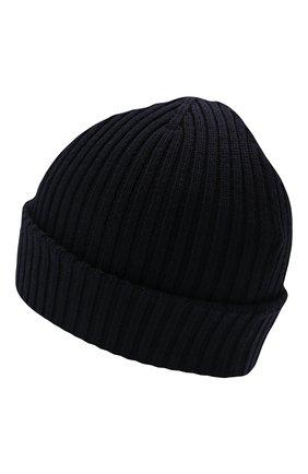 Мужская шерстяная шапка MONCLER синего цвета, арт. G2-091-3B000-29-A9576   Фото 2 (Материал: Шерсть; Кросс-КТ: Трикотаж)