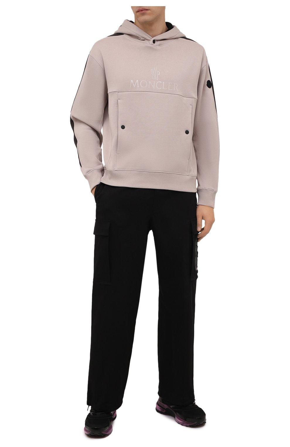 Мужские хлопковые брюки-карго 2 moncler 1952 MONCLER GENIUS черного цвета, арт. G2-091-2A000-22-54A1U | Фото 2 (Силуэт М (брюки): Карго; Длина (брюки, джинсы): Стандартные; Случай: Повседневный; Стили: Гранж; Материал внешний: Хлопок)