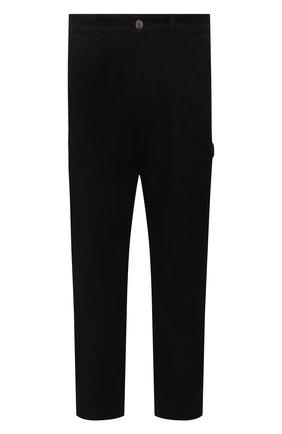 Мужские хлопковые брюки MONCLER черного цвета, арт. G2-091-2A000-11-595D0 | Фото 1 (Длина (брюки, джинсы): Стандартные; Материал внешний: Хлопок; Случай: Повседневный; Стили: Кэжуэл)