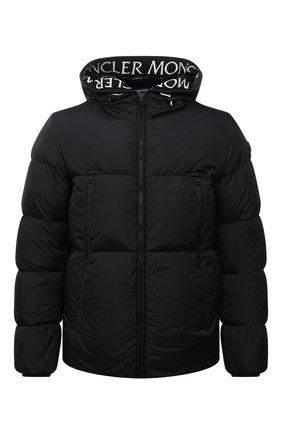 Мужская пуховая куртка montcla MONCLER черного цвета, арт. G2-091-1A001-44-C0300 | Фото 1 (Материал внешний: Синтетический материал; Материал подклада: Синтетический материал; Материал утеплителя: Пух и перо; Кросс-КТ: Куртка; Стили: Гранж; Длина (верхняя одежда): Короткие; Мужское Кросс-КТ: пуховик-короткий; Рукава: Длинные)