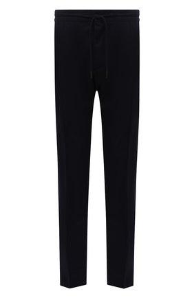 Мужские брюки из шерсти и шелка ERMENEGILDO ZEGNA темно-синего цвета, арт. UVI20/TT18 | Фото 1 (Длина (брюки, джинсы): Стандартные; Материал внешний: Шерсть; Случай: Повседневный; Стили: Кэжуэл)