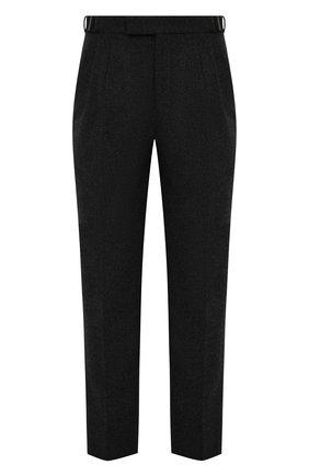 Мужские брюки из шерсти и кашемира ERMENEGILDO ZEGNA темно-серого цвета, арт. UYI16/TP22 | Фото 1 (Материал внешний: Шерсть; Длина (брюки, джинсы): Стандартные; Случай: Повседневный; Стили: Кэжуэл)