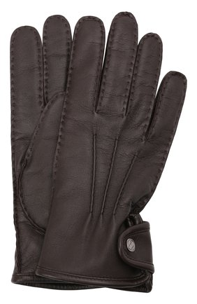 Мужские кожаные перчатки ERMENEGILDO ZEGNA коричневого цвета, арт. Z2G10G/G2A | Фото 1 (Мужское Кросс-КТ: Кожа и замша)