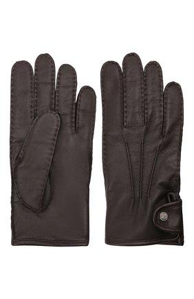 Мужские кожаные перчатки ERMENEGILDO ZEGNA коричневого цвета, арт. Z2G10G/G2A | Фото 2 (Мужское Кросс-КТ: Кожа и замша)